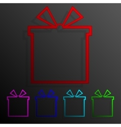 Color set gift banners frame template for design vector