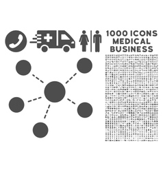 Connections icon with 1000 medical business vector