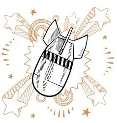doodle pop bomb drop vector image vector image