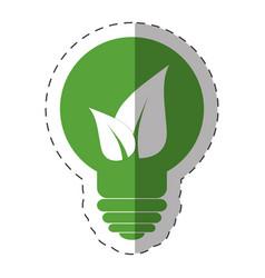 Environment bulb leave light vector