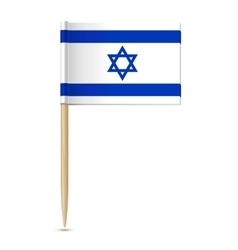 Flag of israel flag toothpick vector