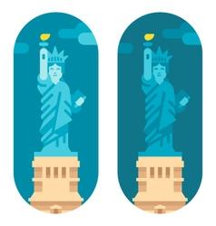 Flat design liberty statue vector