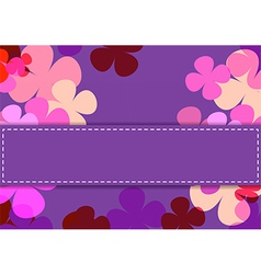 Flowers texture of purple color vector image vector image