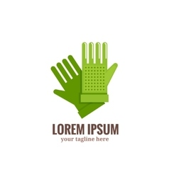 Garden gloves logo vector