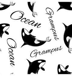 Grampus seamless pattern vector image vector image