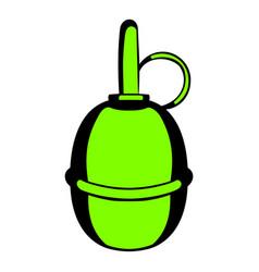 Hand grenade icon cartoon vector