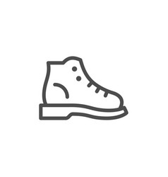 hiking boot line icon vector image