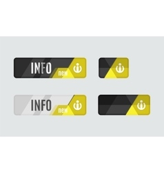 Info button - information sign icon vector image vector image