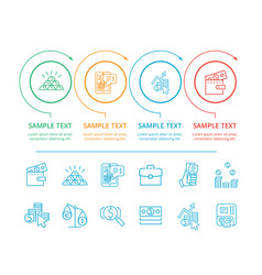 infographic commerce and text vector image vector image