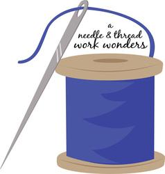 Needle and thread vector