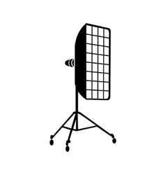 Photographic studio equipment icon simple style vector