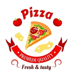 Premium pizza icon for pizzeria menu design vector image vector image