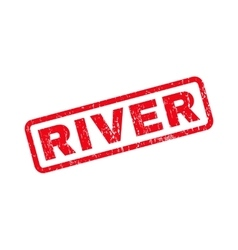 River rubber stamp vector