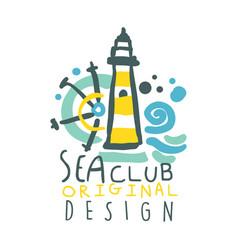 Sea club logo original design summer travel and vector