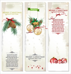 Set of three Christmas banners vector image