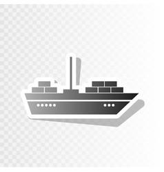 Ship sign new year blackish vector
