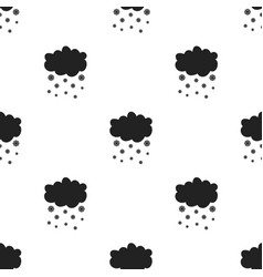 snowfall icon in black style isolated on white vector image vector image