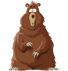 surprised by a bear vector image vector image