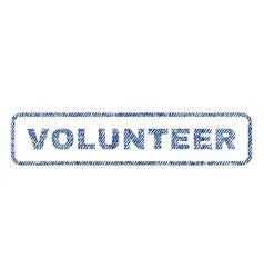 Volunteer textile stamp vector