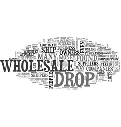 Wholesale dropshippers scams revealed text word vector
