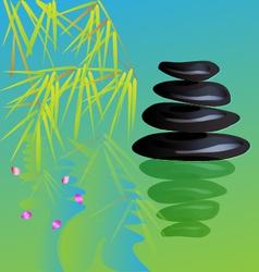Zen stone yoga vector image vector image