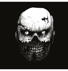 Zombie head hand drawn eps8 vector