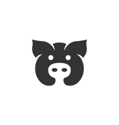 Pig icon isolated on white background vector image