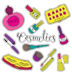 Hand drawn fashion cosmetics Beauty and makeup vector image