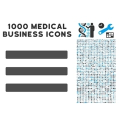 Menu icon with 1000 medical business pictograms vector