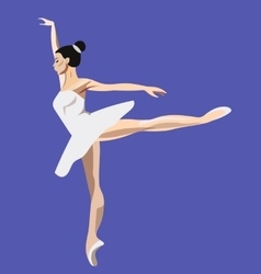 Girl dancing ballet vector image