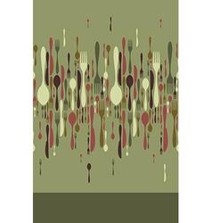 Restaurant menu cutlery pattern vector image
