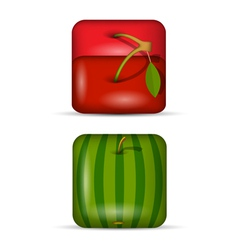 Set 2 of app icons fruits vector