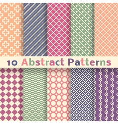 Retro abstract seamless patterns tiling vector