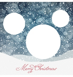 Christmas Ball Symbol and Falling Snow and Isolate vector image