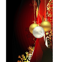 Christmas beautiful artistic background vector image