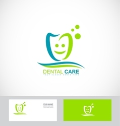 Dentist dental dentistry practice logo vector