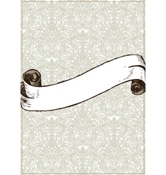 Vintage scroll vector