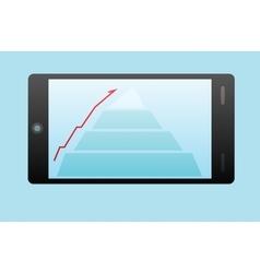 Info graphic in smart phone vector