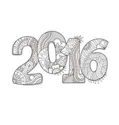 Happy new year 2016 celebration number vector