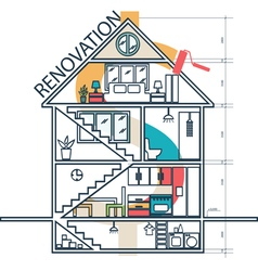 Concept of house remodeling infographic vector
