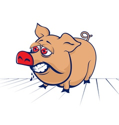 Cartoon evil pig vector