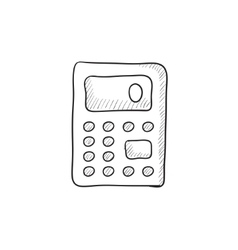 Calculator sketch icon vector