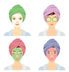 Woman in a Spa set vector image