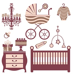 Baby shower collection vector