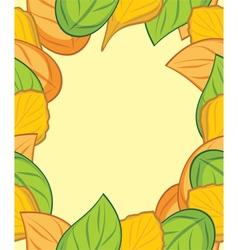 Autumn leafy frame vector image