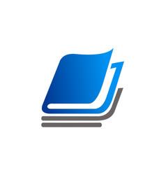 book school education logo vector image