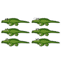 Crocodile with different emotions vector