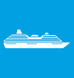 cruise ship icon white vector image