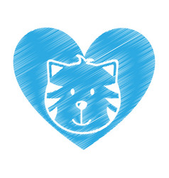 cute cat mascot icon vector image