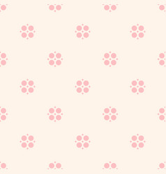 Cute vintage floral pattern for girls in trendy vector